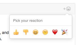 Emoji Reactions Github